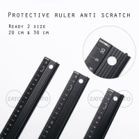 protective ruler anti scratch - penggaris - leather tool