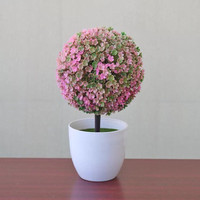 Bunga Plastik Hias Pajangan pot Dekorasi pohon cantik bentuk Bulat