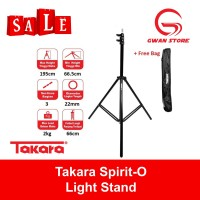 Light Stand Takara Spirit-O Portable Lightstand Studio Flash Umbrella