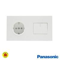 Panasonic Stop Kontak + Saklar 1G Putih WESJP11212 Style Series White