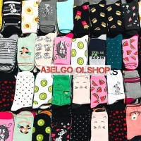 (paket 1 lusin)kaos kaki wanita karakter/kaos kaki lucu/dewasa