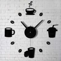 Jam Dinding Besar Raksasa Modern Model Kopi Cafe 40 - 70 CM - DIY-07