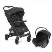 STROLLER BABY JOIE MUZE TS + CAR SEAT 'COAL'
