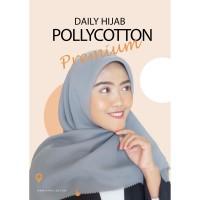 Hijab Segi Empat - PolyCotton Premium Lasercut - Grey