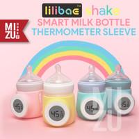 lilibae SHAKE Smart Thermometer Milk Bottle Sleeve Sarung Botol Susu - Biru Muda