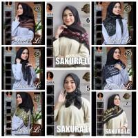 Hijab Kerudung Jilbab Segi Empat Katun Voal BLACK LASERCUT AZARA