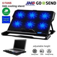 Cooling Pad Laptop 6 Fan - K6|Blower|Kipas Angin laptop
