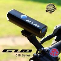 Lampu depan sepeda GUB 018 usb recharger 300 LM ORIGINAL