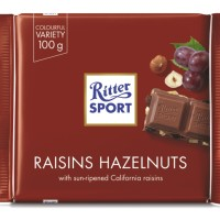 RITTER SPORT RAISIN&HAZELNUT 100GR