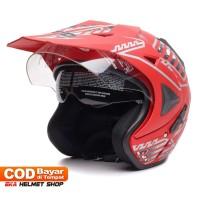FWD [Helm Dewasa] WTO Helmet Pro-Sight Cross - Merah