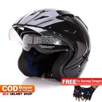 FWD [Helm Dewasa] WTO Helmet Pro-Sight - Hitam + Promo