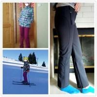 Celana Panjang Bahan Fleece Hangat Anti Air / Angin untuk Hiking /
