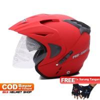 FWD [Helm Dewasa] WTO Helmet Pro-Sight - Merah Doff +