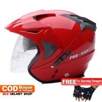 FWD [Helm Dewasa] WTO Helmet Pro-Sight - Merah + Promo