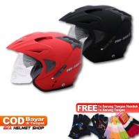 FWD [COUPLE HELM DEWASA] WTO Helmet Pro-Sight - Merah