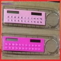 10CM Calculator Solar Calculator Transparent Ruler Wear Durable
