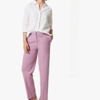 M&S - Celana Panjang Wanita - Side Stripe Straight Trouser - LILAC MIX