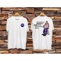 Kaos Distro Vespa Rider Putih/T-Shirt Pria/Kaos Keren