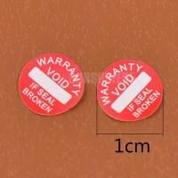 Stiker Seal Segel Void Garansi Pecah Telur Diameter 1cm