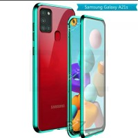 Case MAGNETIC Samsung Galaxy A21s Double Glass Metal Casing a 21 s
