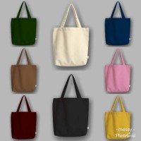 "Messy"" Tote Bag Semi Canvas Polos"