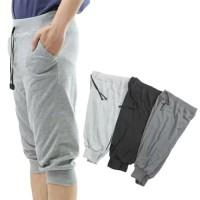 Celana Jogger 7/8 Polos Babyterry Celana Training Sweatpants Premium