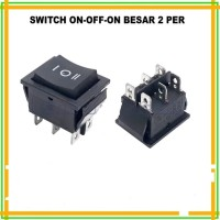 Switch On-Off-On 6 Pin Besar 2 Per Spring Saklar On-Off-On 6 Pin