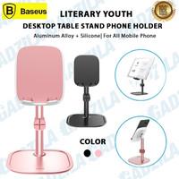 BASEUS LITERARY YOUTH DESKTOP TABLE STAND HP PHONE HOLDER DI MEJA