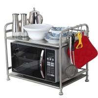 GUNINCO RAK MICROWAVE Stainless Steel Rak Serbaguna Rak Dapur Oven