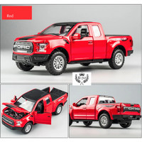 Diecast Miniauto mobil Ford Raptor F150 Pickup Metal Collection 1:32