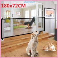 Portable Folding Safety Magic Gate Guard Mesh Safe Fence Net for Pets