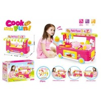 889-65 Cook Fun Fast Food Bus Mainan Anak Kitchen Set Alat Masak