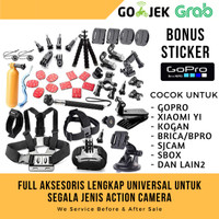 Aksesoris super lengkap untuk action cam gopro xiaomi yi brica