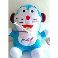 Boneka Doraemon Headset Jumbo / Boneka Doraemon Pakai Headset Besar