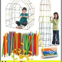 Mainan Edukasi Straws Connector Straws Builder Straws Architecture