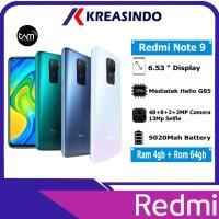 Xiaomi Redmi Note 9 4/64 Ram 4gb Rom 64gb Garansi Resmi TAM - Abu-abu