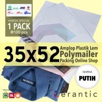 Putih Polymailer 35x52 cm | Polybag | Plastik Amplop 100