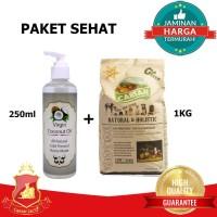PROMO Paket Sehat Anjing - Dog Food Caesar Holistic 1kg + VCO 250ML