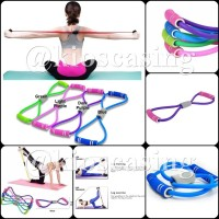 Resistance Band Yoga Exercise Tali Stretching Gym Fitness Pull Rope SL