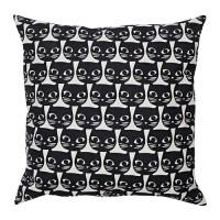WM IK6448 GERD1E Bantal kursi monochrome motif kucing ukuran 40x40 cm