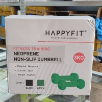 dumbel Barbel 3 kg Neoprene anti slip HAPPYFIT 2 pc