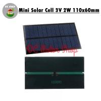 Mini Solar Panel/Cell 110x60 3V 300mA 2W Phone Charger Baterai Lithium