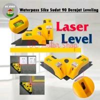 Waterpass/Water pass Laser Siku Sudut Leveling 90 Derajat Laser Merah