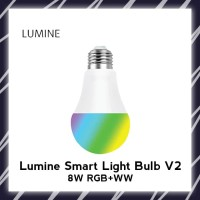 LUMINE Smart Light Bulb LED 8W RGB+WW WiFi Lamp not Bardi Arbit
