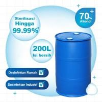 Soigni 200L Alkohol 70% Alkohol Anti-viru Desinfektan ndustri
