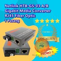 NETLINK HTB-GS03/HTBGS03/HTBGS-03 A+B SEPASANG GIGABIT MEDIA CONVERTER