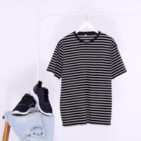 Paling Laris !!! Kaos Motif Garis Medium Stripe Tshirt