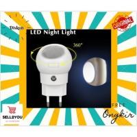 Lampu Tidur LED Sensor Cahaya Rotasi 360 Derajat Bohlam Original