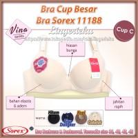 Bra Cup C Besar Busa Tipis Berkawat Sorex 11188