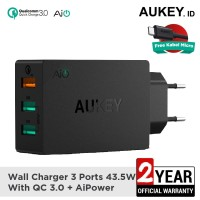Aukey Charger 3 Ports 42W QC 3.0 & AiQ - 500063